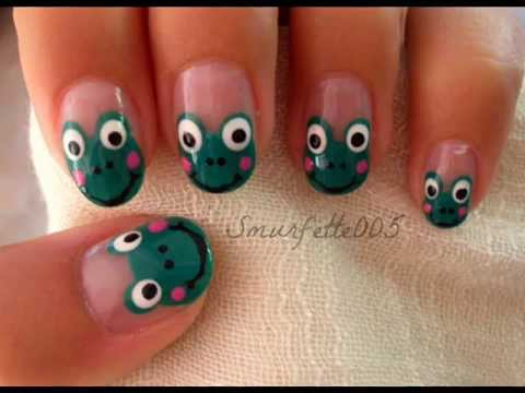 Cute frog nails tutorial youtube cute frog nails tutorial prinsesfo Choice Image
