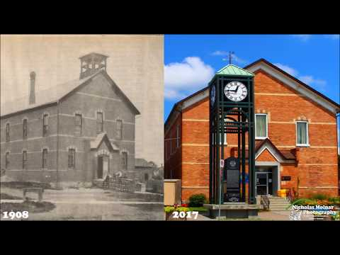 Then And Now Bradford Ontario Canada Photo Montage  1080p HD