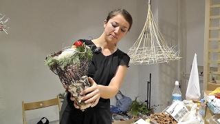 Новогодние композиции (+23 фото и видео), мастер-классы ёлки из конфет