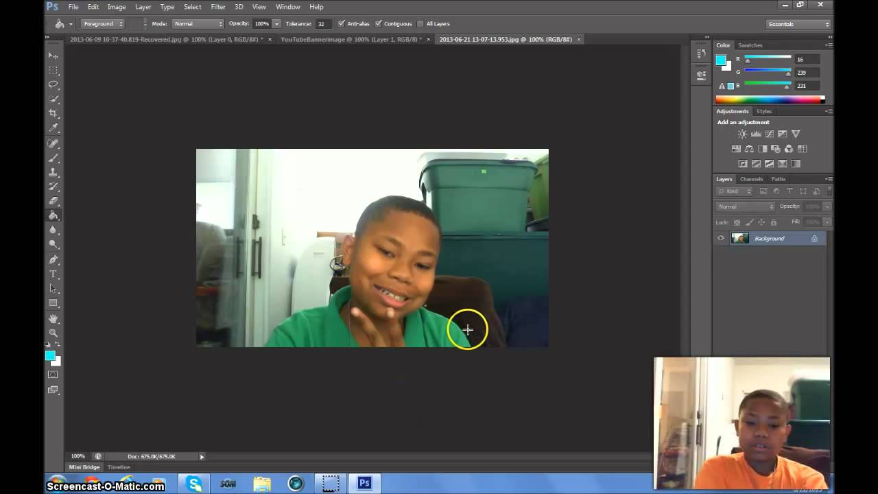 Adobe PhotoShop CS6: Episode 3: Making A Custom YouTube Banner ...