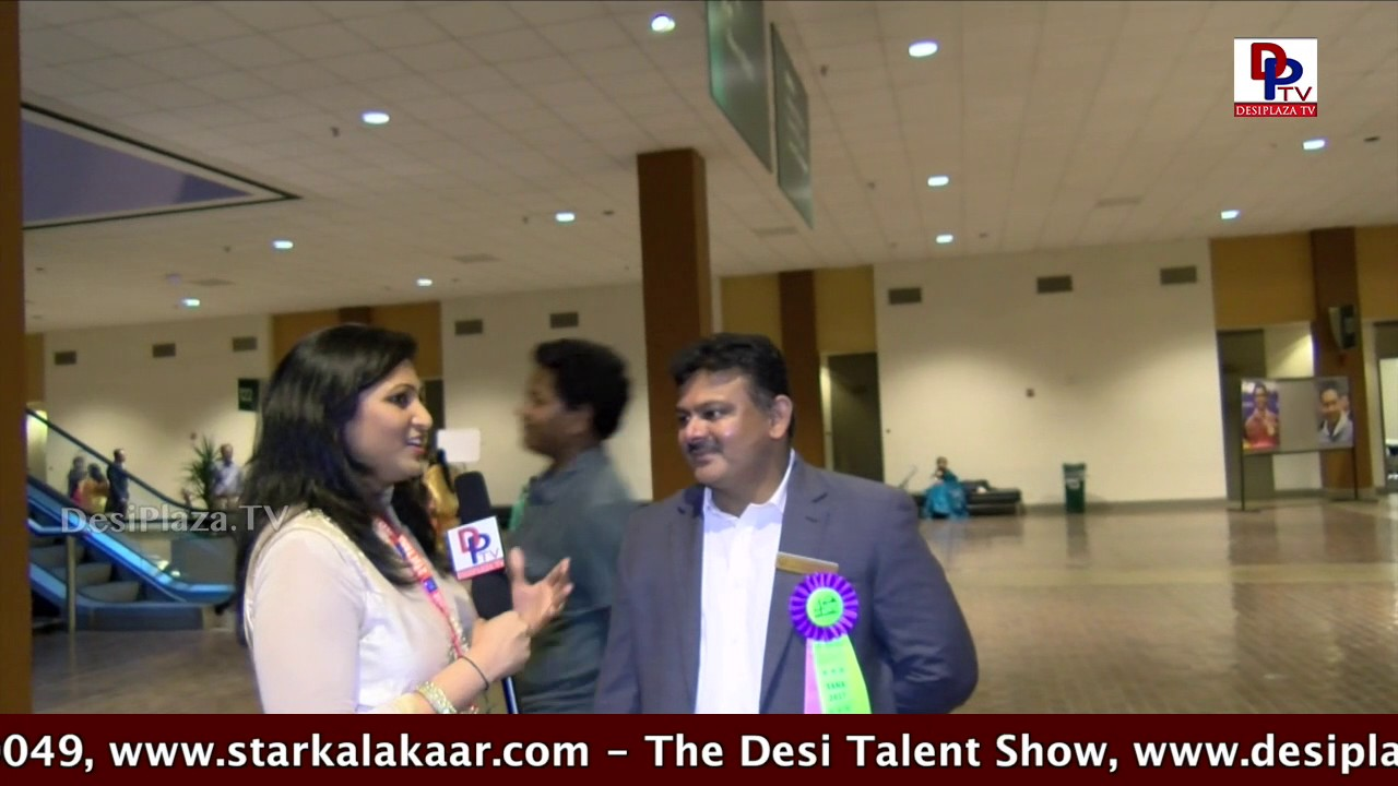 TANA Regional Coordinator speaking to DPTV at Telugu Association of North America - 2017 Conference