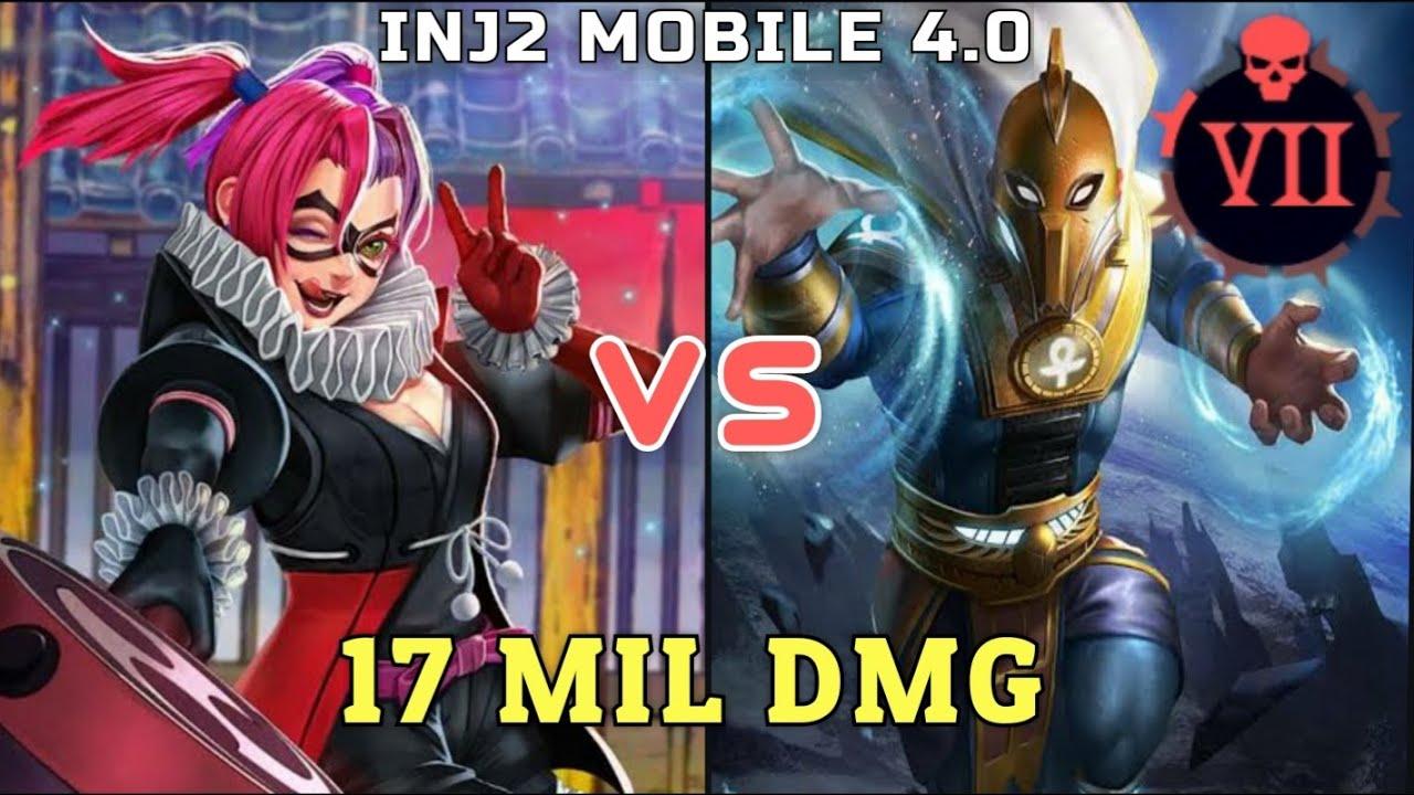 Injustice 2 Mobile 4 0 Batman Ninja Harley Quinn Vs Df 17 Mil Dmg Youtube
