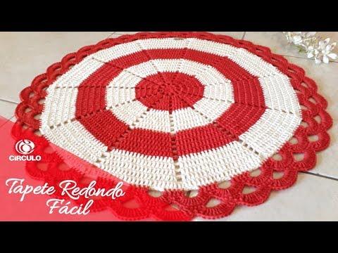 Tɑpete Redondo Fácil em Crochê
