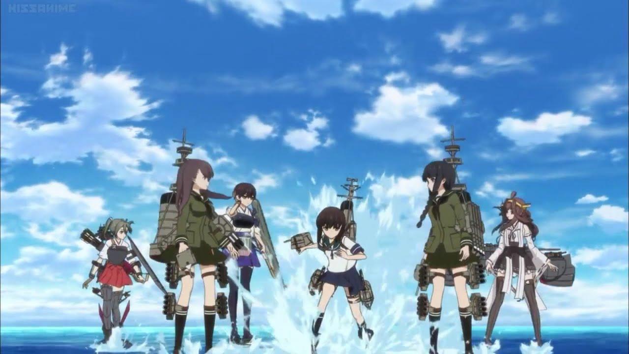 Bereit für die Schlacht - Die Mädchen in KanColle sind mit Geschütztürmen an den Armen und Torpedorohren an den Beinen ausgerüstet | © Kazé