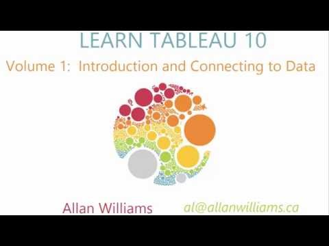 Tableau 10 : Vol 1 : Introduction and Connecting to Data
