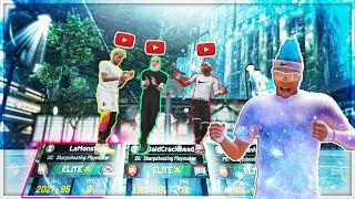 THE #1 RANKED PLAYSHARPS IN THE WORLD ON ONE TEAM.. LAMONSTA GMAN AND IMDAVISSS NBA 2K19 my park
