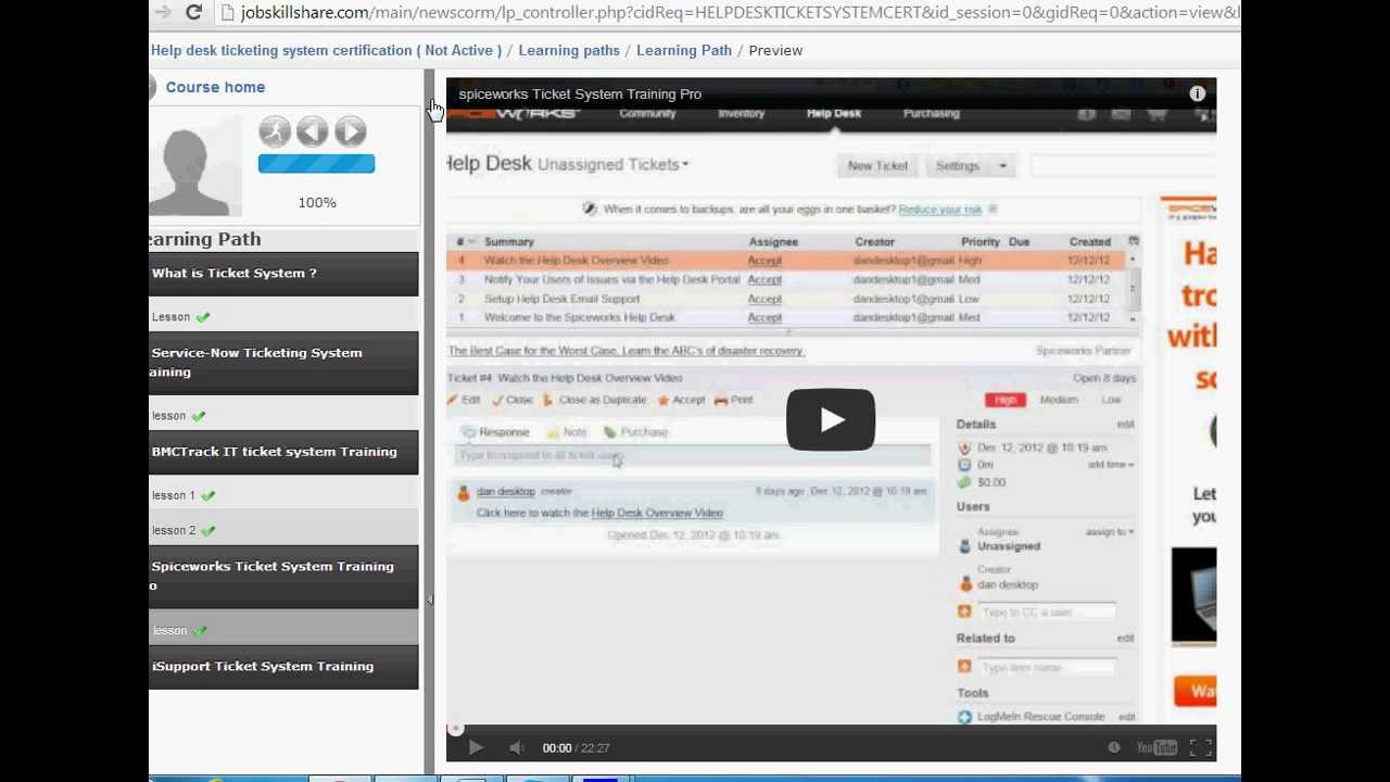 Help desk ticketing system certification youtube 1betcityfo Gallery