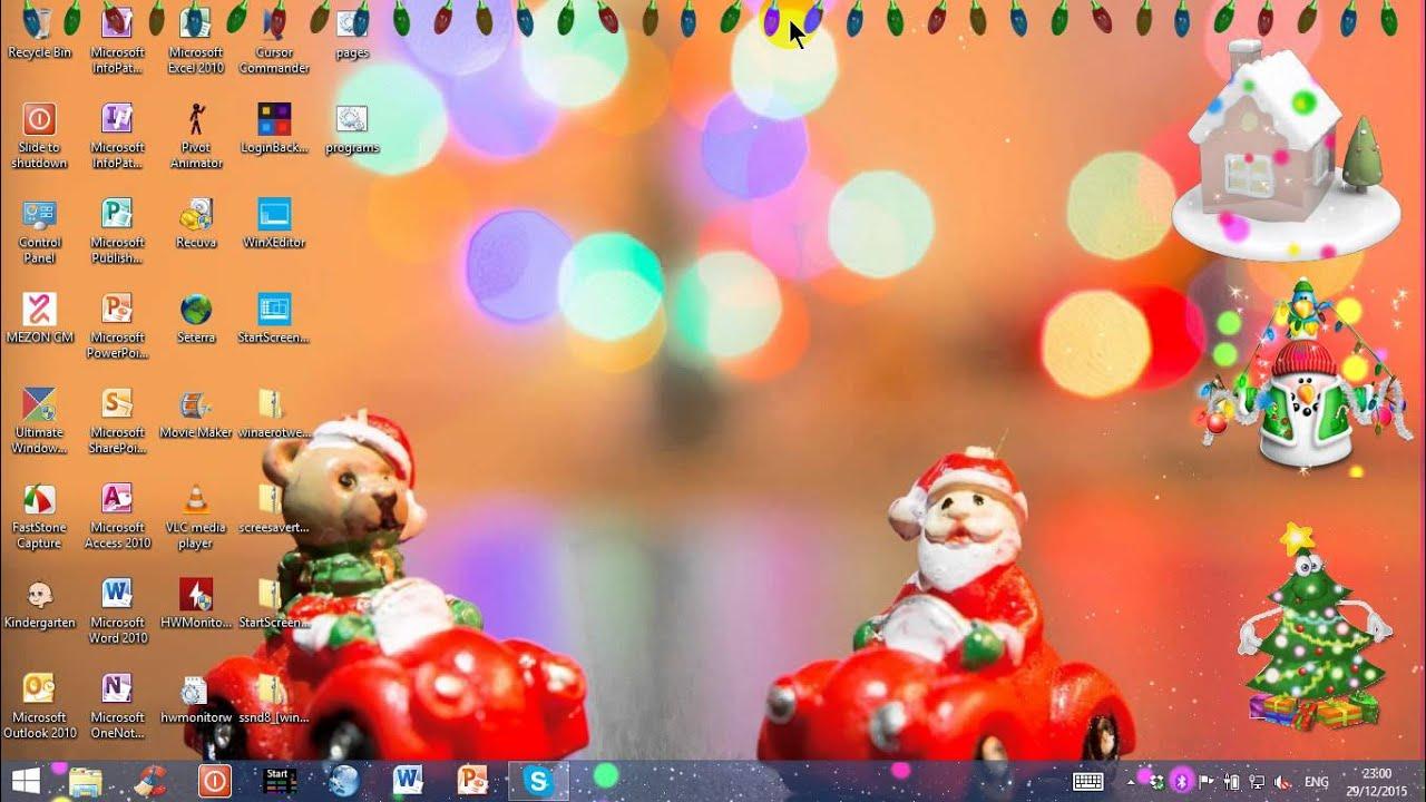 christmas desktop gadgets on windows 8.1 - youtube