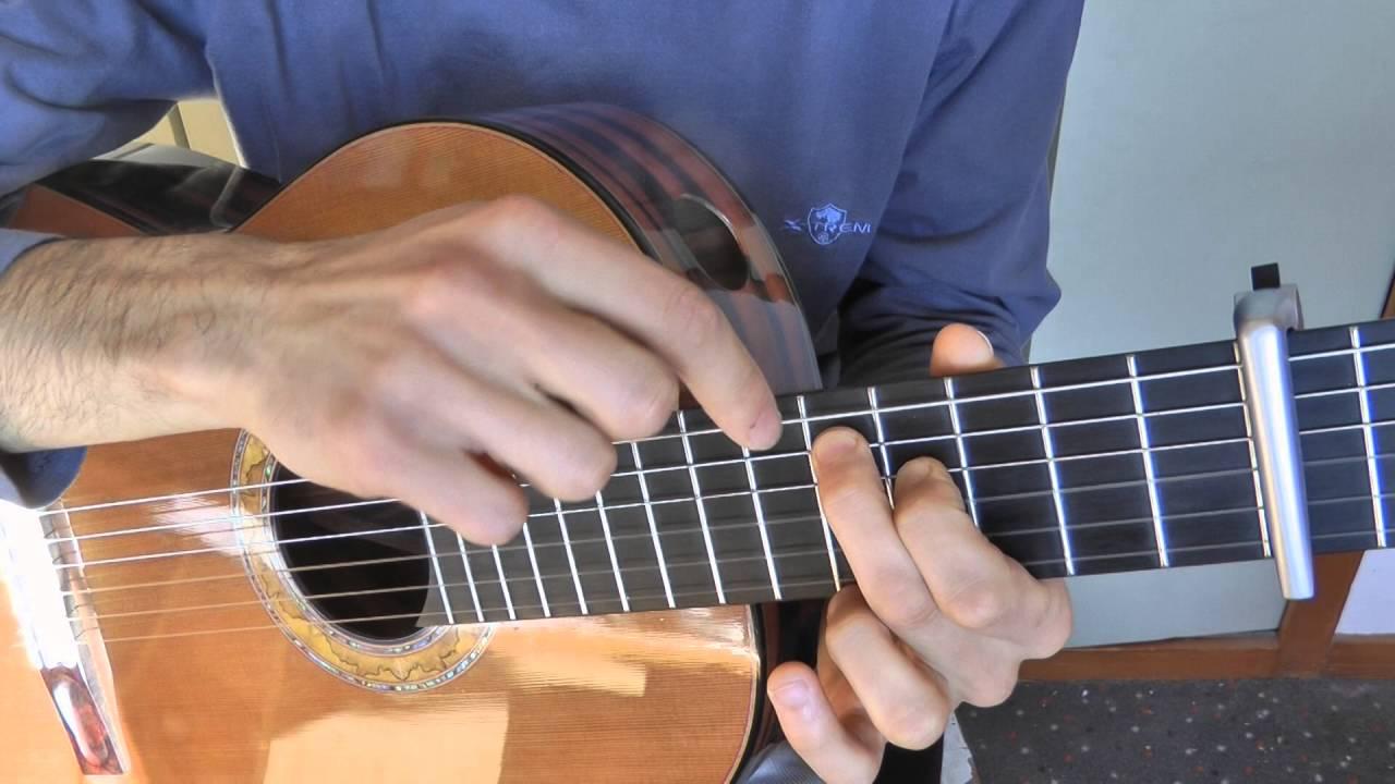 Tuto guitare - Una Mattina (1/4) démo + motifs «&» + séquences «A», «B», «C»