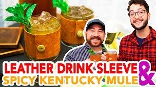 Leather Drink Sleeve + Spicy Kentucky Mule Cocktail- HGTV Handmade