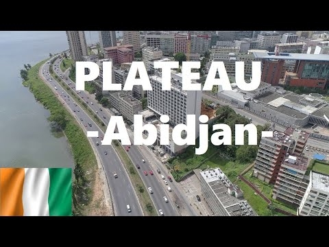 Driving Around Plateau, Downtown Abidjan, Ivory Coast - Côte d'Ivoire. West Africa. Beautiful Town!