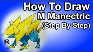 How To Draw Mega Manectric Step By Step  Tutorial