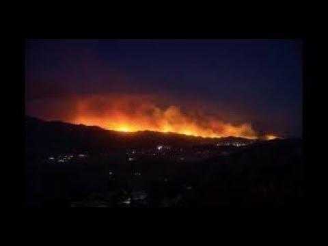 CC Sky 7 ABC Live Sonoma Napa County Fires North Bay CA Santa Rosa10/9/2017 Earthquake in S.