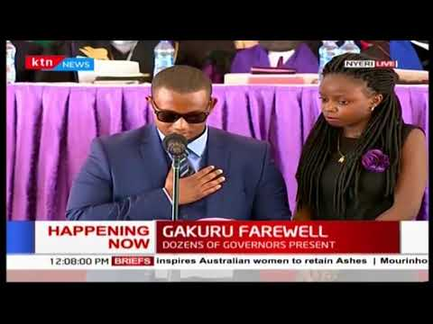 SAD! Emotional eulogy read by Wahome's eldest son