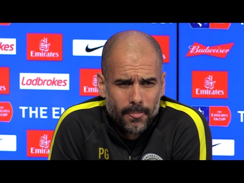 Pep Guardiola Pre-Match Press Conference - Huddersfield Town v Manchester City - Embargo Extras