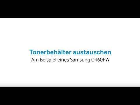 Samsung Drucker: Tonerbehälter austauschen C460FW