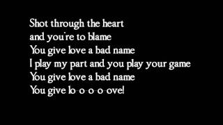 Bon Jovi - You give love a bad name - lyrics thumbnail