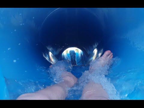 POV: Intense Blue Water Slide: Devil's Peak at Water Wizz, East Wareham, MA