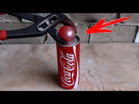 Thumbnail: EXPERIMENT Glowing 700 degree metal ball VS COCA-COLA