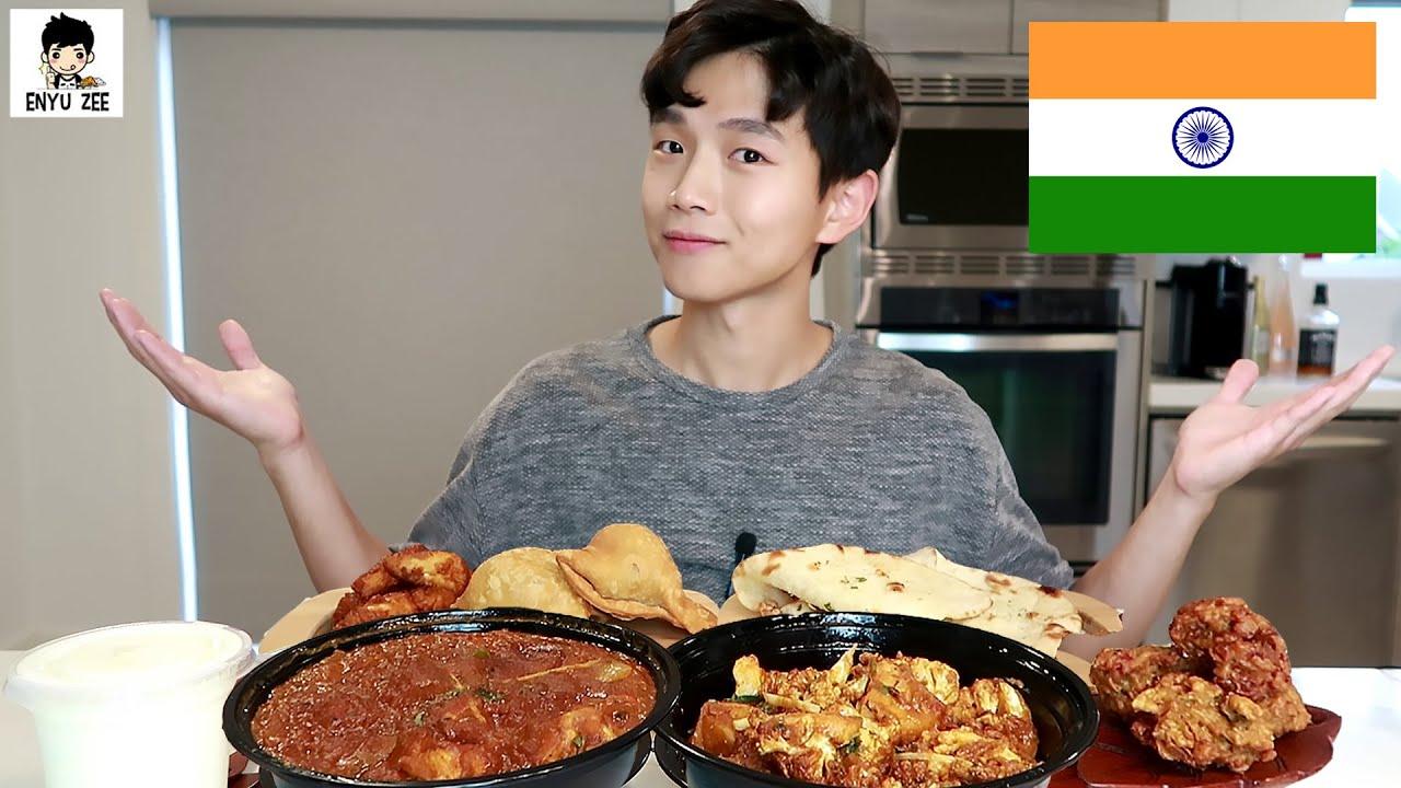 SUB)🇮🇳 INDIAN FOOD FEAST [인도음식 2탄먹방] CHICKEN TIKKA MASALA, ALOO GOBI, PAKORA, SAMOSA MUKBANG