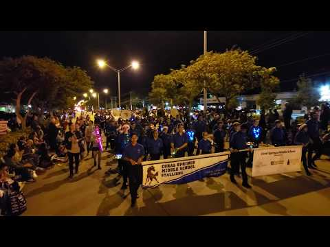 Coral Springs Holiday Parade 2018 :: Coral Springs Middle School Marching Band