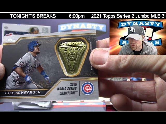2021 Topps Series 2 Baseball Card Jumbo 3 Box Half Case Break #1   Sports Cards