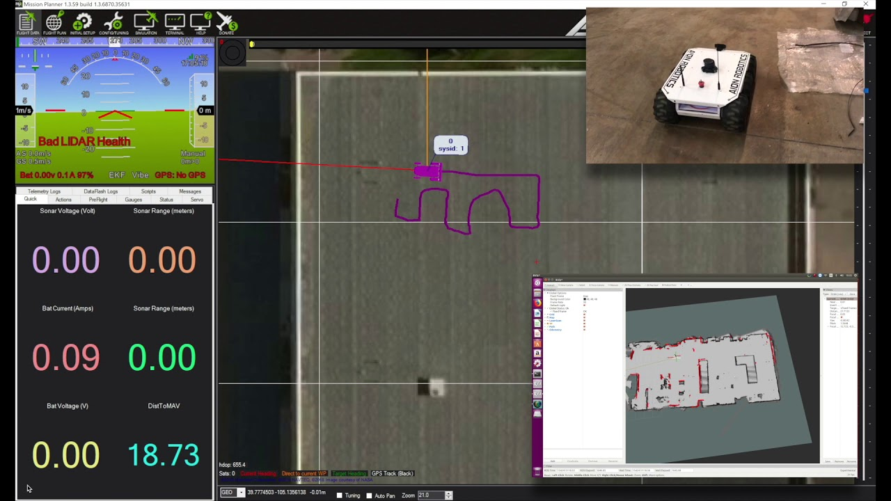 M6 UGV - Indoor SLAM - ArduPilot + ROS + Cartographer Demo