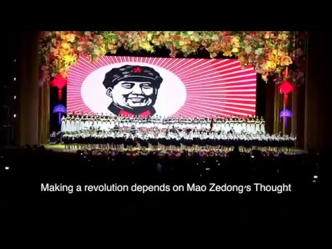 """Sailing the seas depends on the helmsman"", a red song praising Mao Zedong"