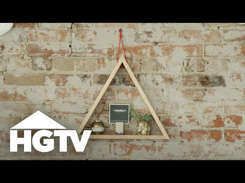 Diy wood triangle shelf hgtv youtube