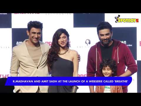 UNCUT- R Madhavan and Amit Sadh at the launch of a Web series called 'Breathe' -Part-1 | SpotboyE