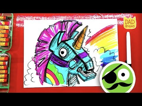 How To Draw Fortnite  / Coloring Book LLAMA Art For Kids