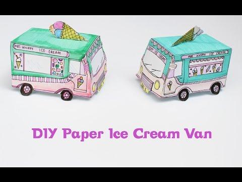 DIY Paper Ice Cream Van   Theseglitteryhands