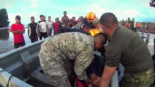 BUSQUEDA Y RESCATE senan y sinaproc RIO Belén Norte Veraguas 16 personas rescatadas