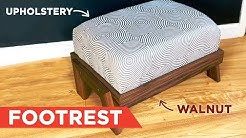 How to Build a Footrest/Footstool - Woodworking & Upholstery | Workshop Republic