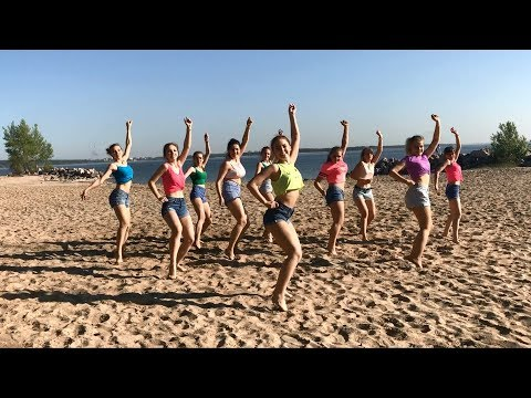 Siberian Girls Dancing to the Top Latin Songs on the Beach