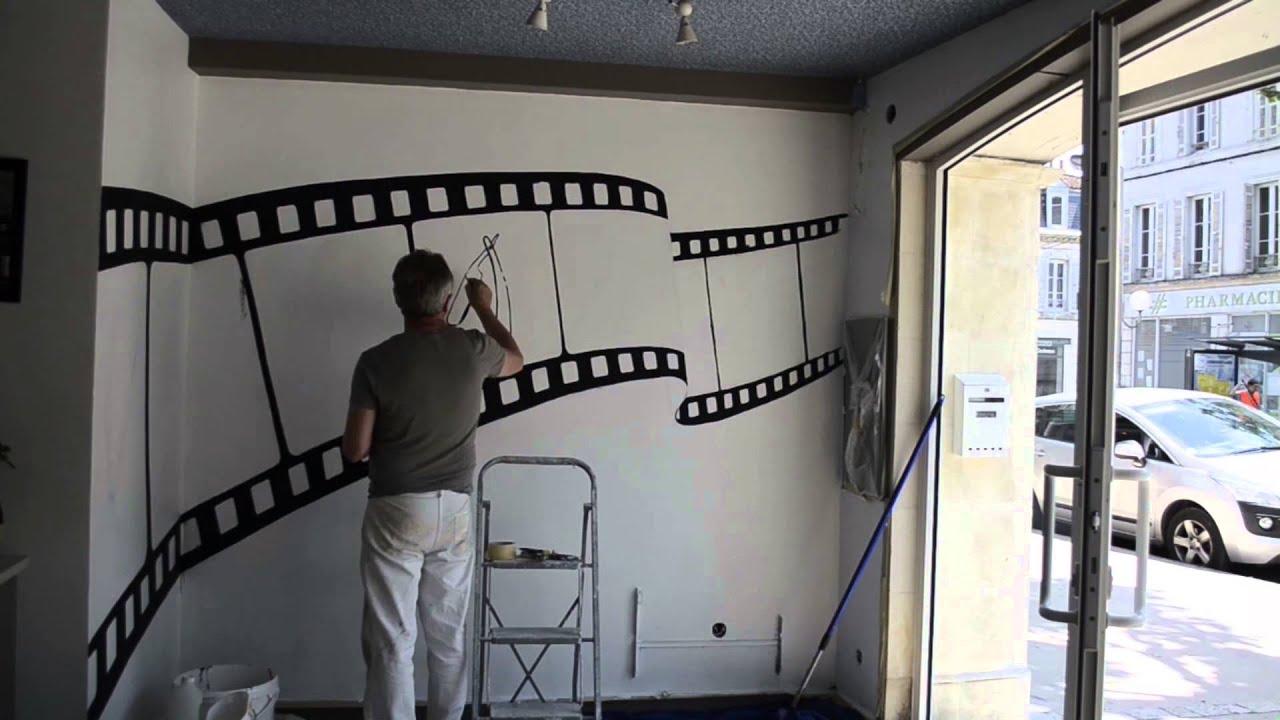 Dcor peint salon de coiffure  Saintes  YouTube