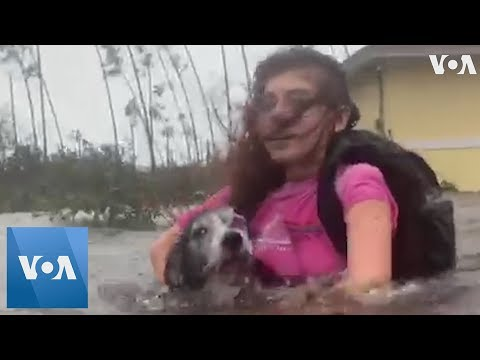 Bahamas Residents Chest-Deep in Hurricane Dorian Flood Waters