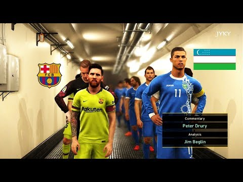 UZBEKISTAN VS BARCELONA | Full Match | Amazing Goals ( Messi VS Ronaldo )