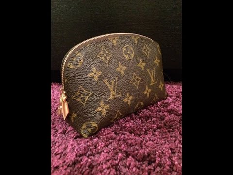 cdf6892675dc Louis Vuitton Cosmetic Pouch Review - YouTube