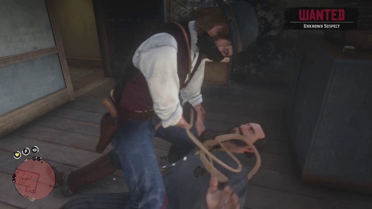 Red Dead Redemption 2 Robbing Doctors Secret Backdoor Business