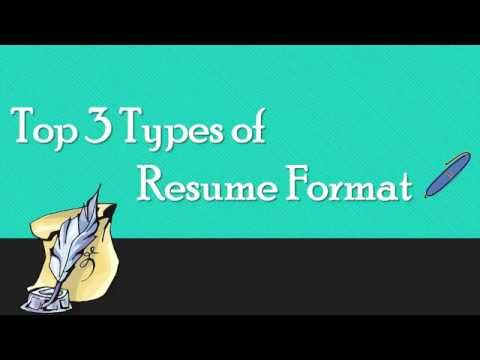 Know 3 Main Types Of Resume  3 Types Of Resumes