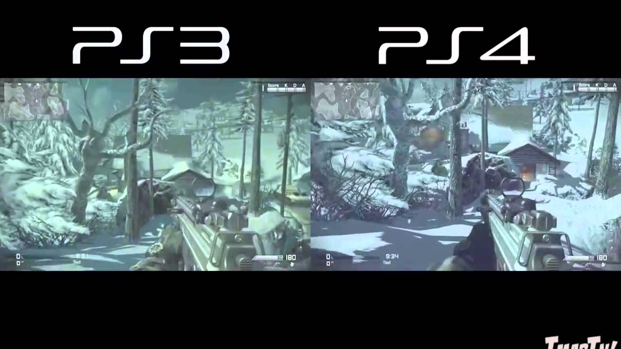 COD Ghosts:PS3 vs PS4 Confronto Gameplay-Mappe-Multyplayer ...