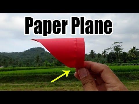 Pesawat Kertas Unik Yang Bisa Terbang