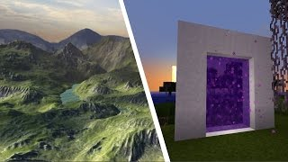 HOW TO MAKE A PORTAL TO THE REAL WORLD!! Minecraft
