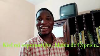 Kiel mi esperantiĝis , blabla en esperanto de Cyprien😀