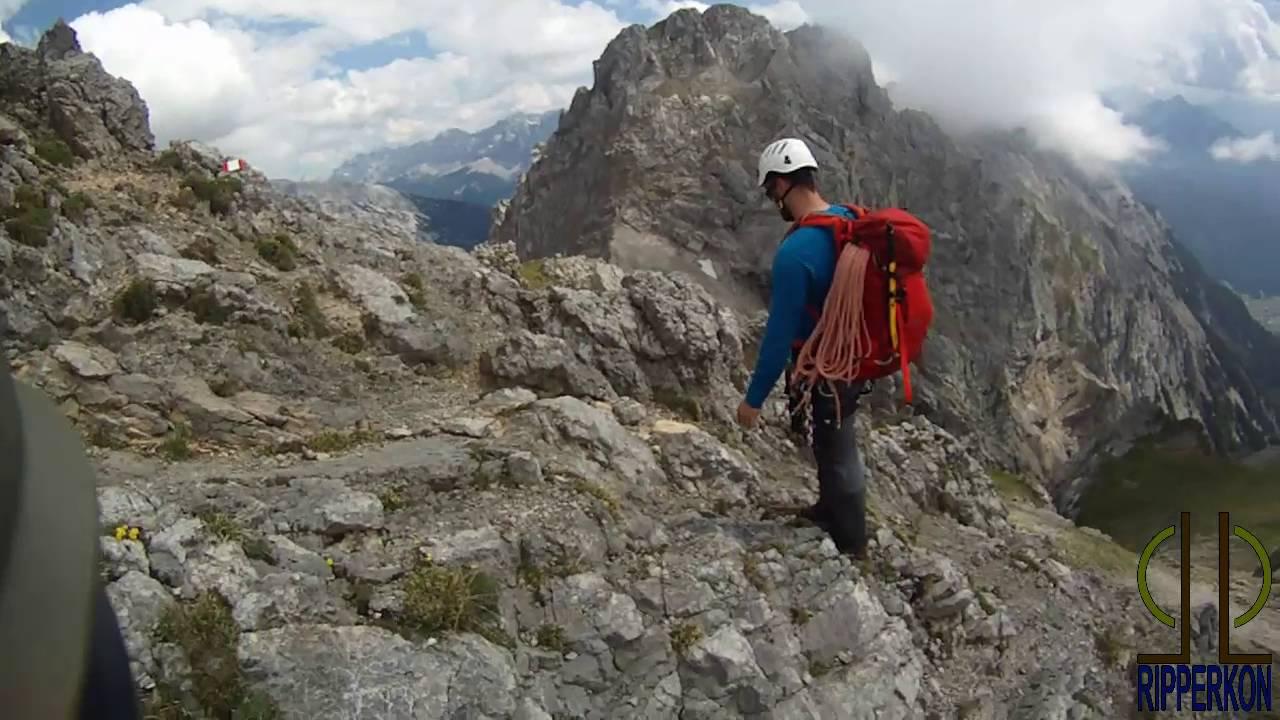 Klettersteigset One Touch : Mittenwalder höhenweg juni 2016 contour roam 2 uncut youtube