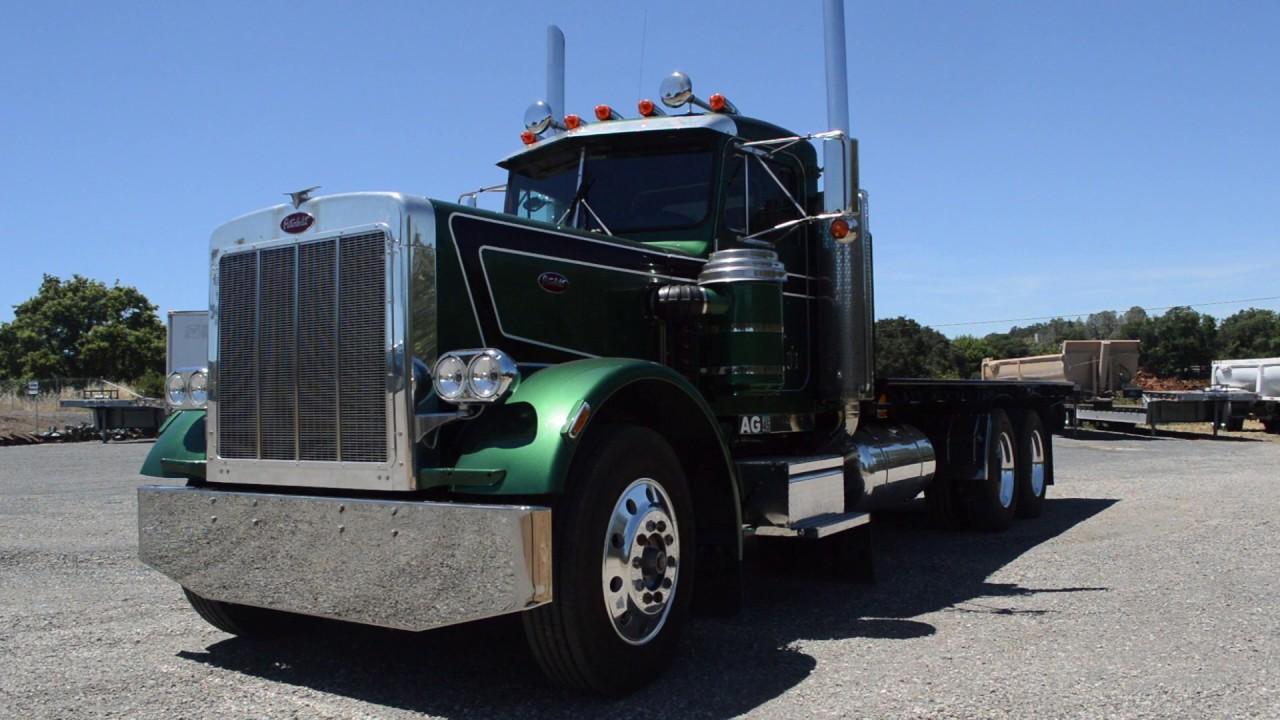 1985 peterbilt flatbed 3 axle 359exhd charter trucks u10685