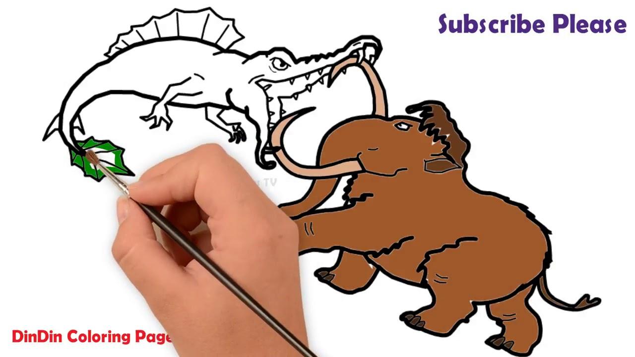 Wie Zeichnet Man Mammut Und Krokodil Für Kinder Malvorlagen Für Kinder