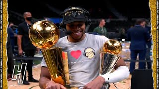Giannis Antetokounmpo Joins GameTime, Postgame Interview - Game 6   2021 NBA Fin