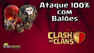 Clash of Clans ataques de balão CV 6